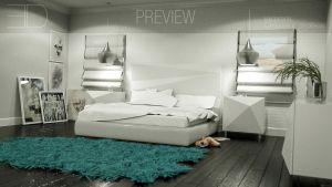 Bedroom 773sq.ft ericdesign octane preview 2 by 3DEricDesign