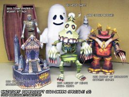 Papercraft Halloween Specials 2009-2014 by ninjatoespapercraft