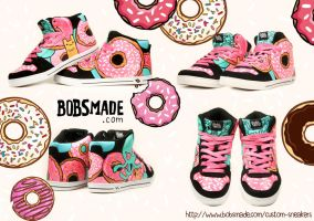 Donut Monster Sneaker by Bobsmade