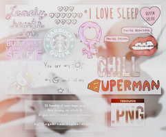 OVERLAYS (13 PNG'S). by iLegoDream