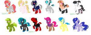 5 Point Pony Adoptables! [Open] by inkaXkirby