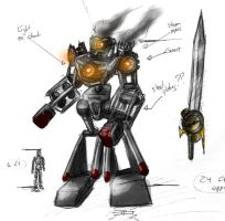 Steam Powered Mech Design by dcjosh