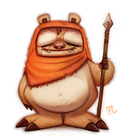 Day 608. Ewok by Cryptid-Creations