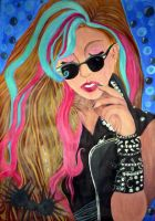 Gaga in Thought- Painting by Lilica-Demetier