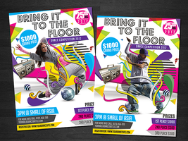 Bring It To The Floor Flyer Template by koza30
