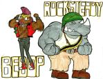Bebop and Rocksteady by Bleu-Ninja