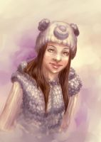 Girl in the bear-hat by Willborg