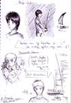 The Lightning Thief sketches by Minmuchan
