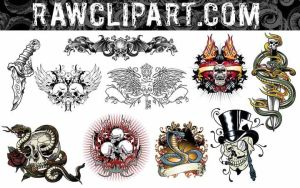 Tattoos Set 5 by rawclips