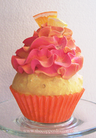 Faux Tropical Mango Cupcake by TheCopperDragon2004