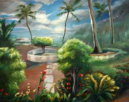 Landscape with Palm Trees by kimby