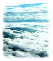 clouds out of the plane window by SoraPyper