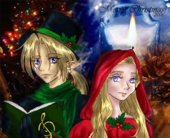 A Zelda and Link Christmas by HyruleMaster