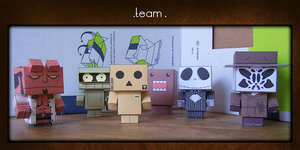Papercraft Team by lalibi