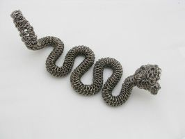 Rattler Maille Sculpture4 by BorealisMetalWorks