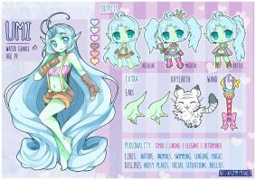 Umi: new ref sheet by Kimmymanga