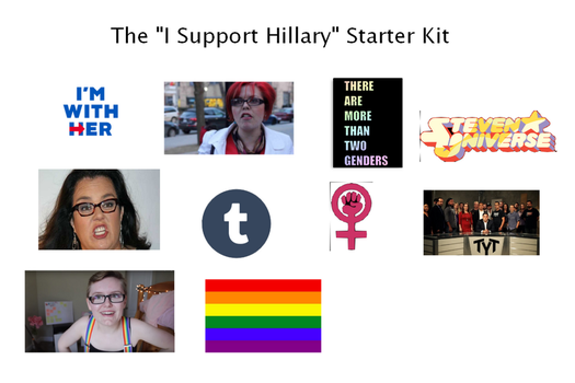 The Hillary Supporter Starter Kit by TheDragonLives
