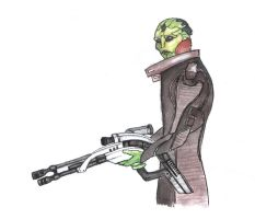 Thane Krios by nikkeae