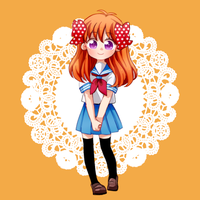 Chiyo Sakura in Sailor uniform by IMLazyCat