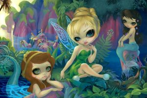 Tinker Bell and the Mermaids by jasminetoad