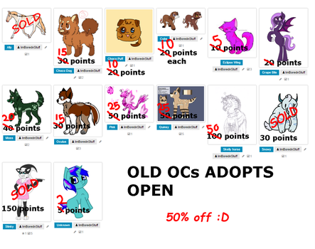 OLD OCs OTA: SALE by ImBorednStuff