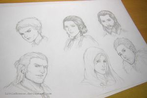 Dragon Age Inquisition Scribbles by LittleBreeze