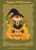 Little Witch and Big Pumpkin by smoking59