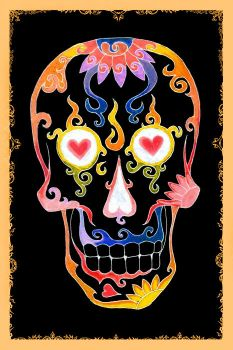 D.O.T.D. Day of the Dead Skull by Gravelcore