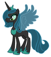 Season 1 Princess Luna in Queen Chrysalis's colors by ClassicsAreDEAD