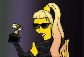 Lady Gaga Grammy 2011 by orl-graphics