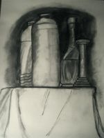 Bottle Still Life Drawing 3 by panhead121