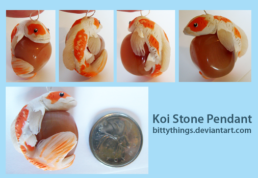 Koi Stone Pendant by Bittythings