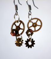 Steampunk earrings. by TheCraftsman