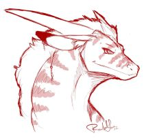 Dragon Sketch by DragonsFlameMagic