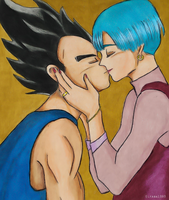 My prince - Bulma and Vegeta by elfaba1993