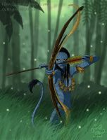 Neytiri with Father's bow by ClaireLyxa