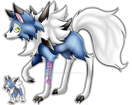 Shiny Midday Lycanroc by causticfiredrake