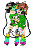 Manda and Boo are ravers! by Baby-Boo-Boo