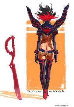 Ryuko Speed Painting by ChaseConley
