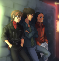 hotties on a wall by FastPuck