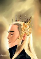 King of The Wood Realm , Thranduil by Bensatriart