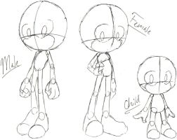 How I sketch out sonic people by MagicalPouchOfMagic