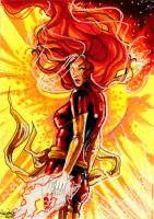 Commission: Dark Phoenix by skardash