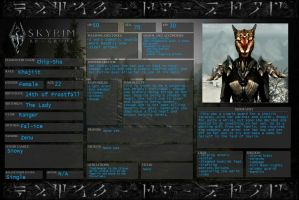 Skyrim Character Sheet by coop500