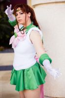 Super Sailor Jupiter: Crystal Power by HoodedWoman