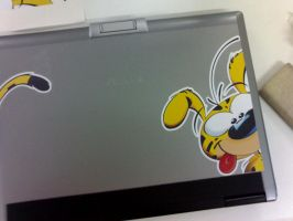 """Laptop Cover - Marsupilami by canecodesign"