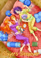 Slayers - Girls Sleepover by piku-chan