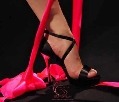High Heel and pink strip by efotos