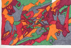 Gundam Wing Abstraction by MacArther
