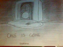 Cake is Gone by counselorslug